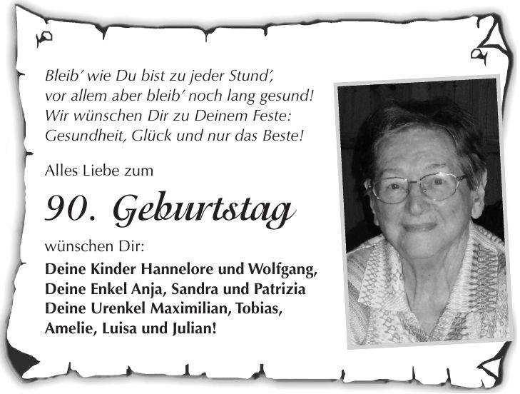Geburtstagsannonce Zeitung