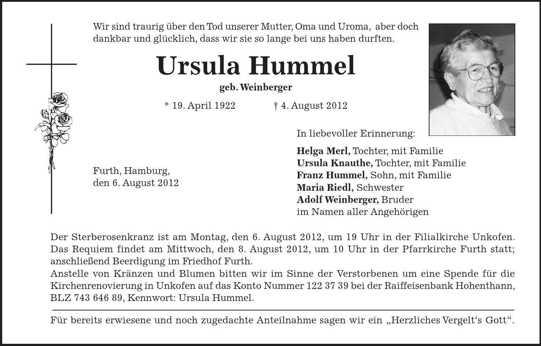 Hamburg Todesanzeigen