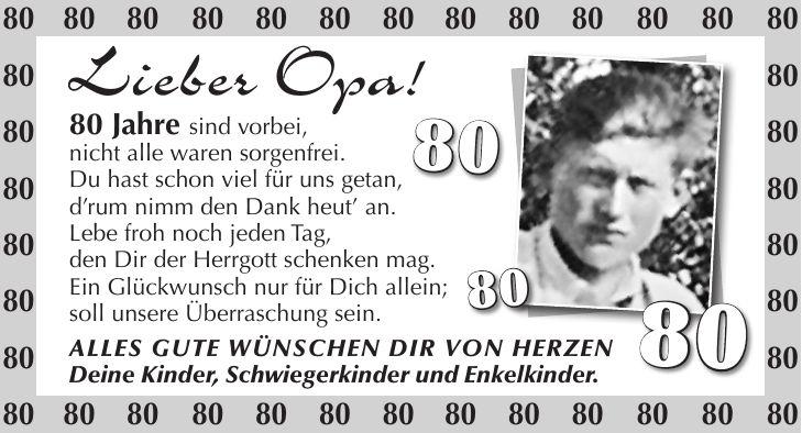 Geburtstagsanzeigen Zeitung