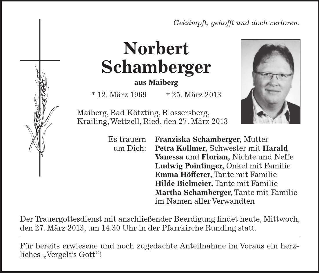 Bad Kötztinger Zeitung Todesanzeigen