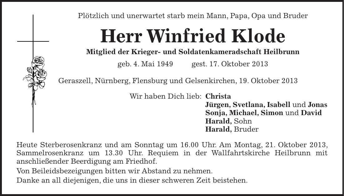 Traueranzeigen Flensburger Tageblatt