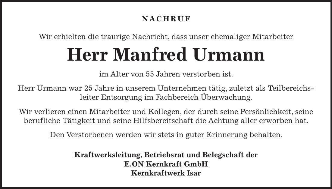 Urmann Und Kollegen