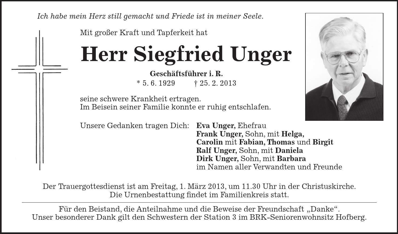 Thomas Unger Ehefrau