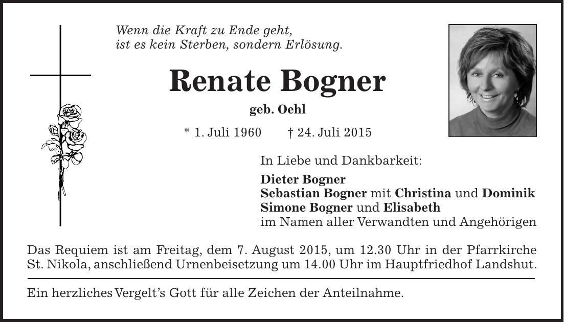 sale outlet online best place Traueranzeige (677088) - Familienanzeigen / Todesanzeigen ...