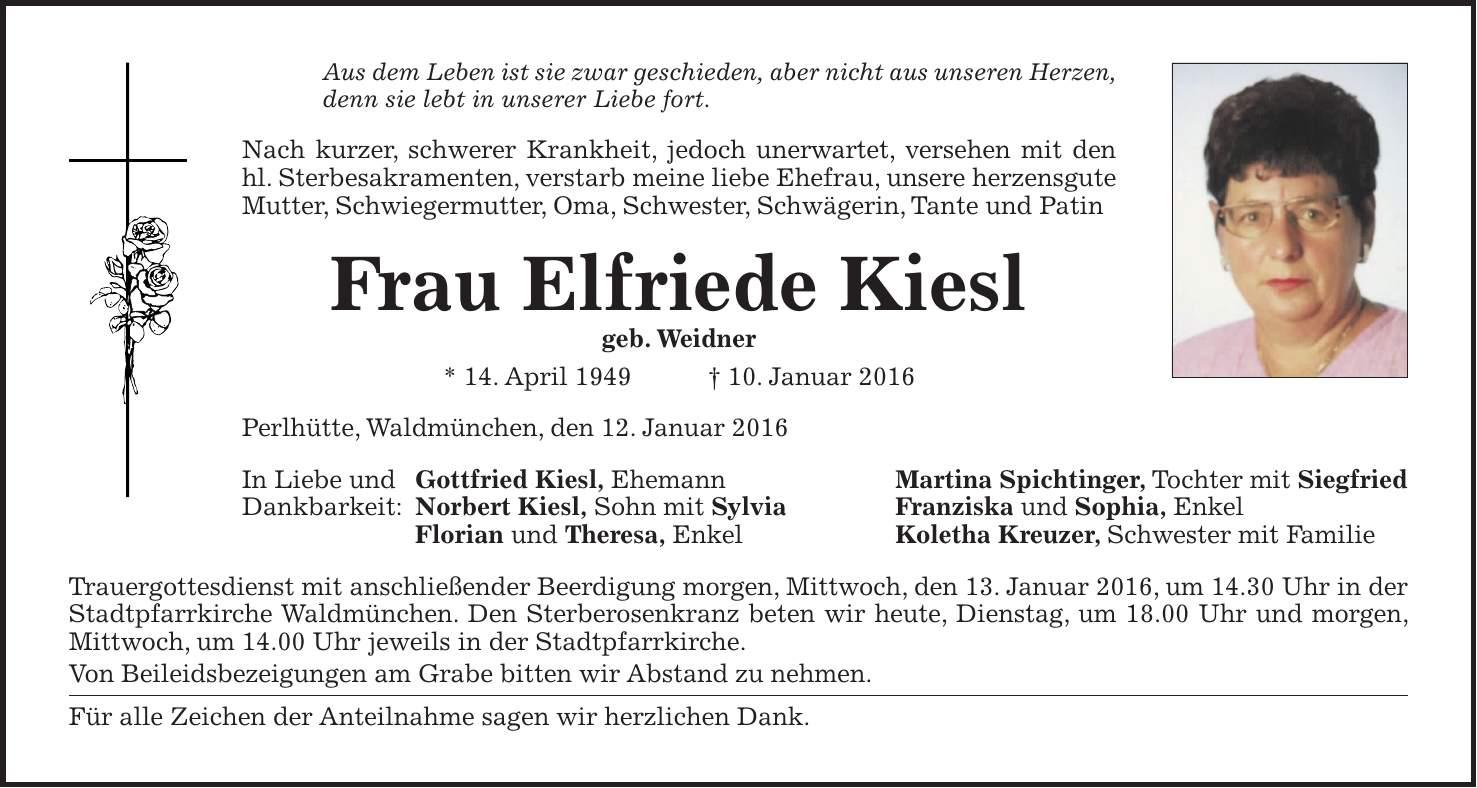Kötztinger Zeitung Todesanzeigen Heute