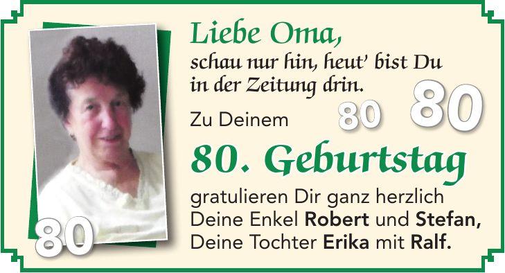 Oma 80 geburtstag von enkel