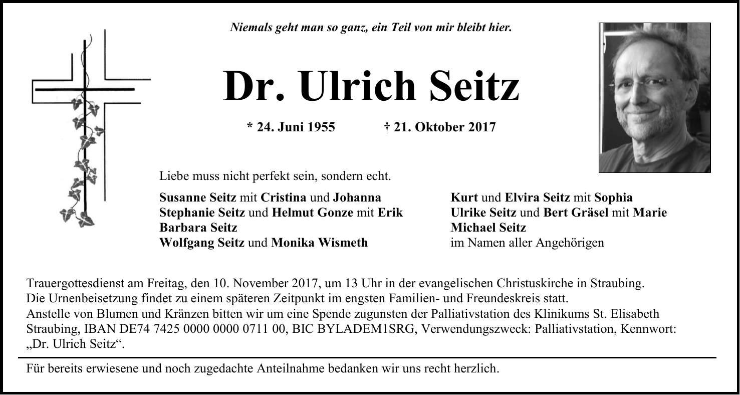 Idowa Traueranzeigen Straubinger Tagblatt