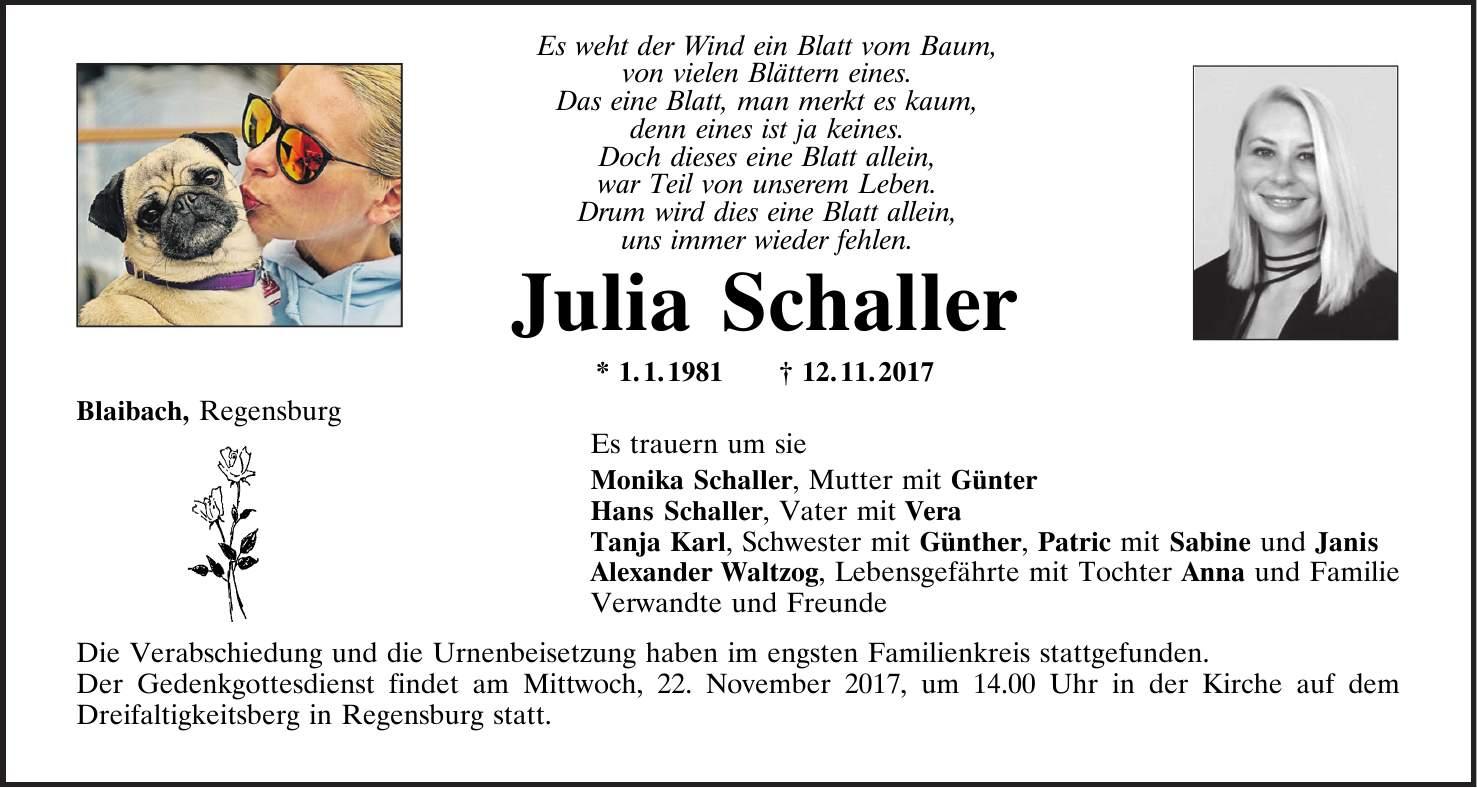 Regensburg Todesanzeigen