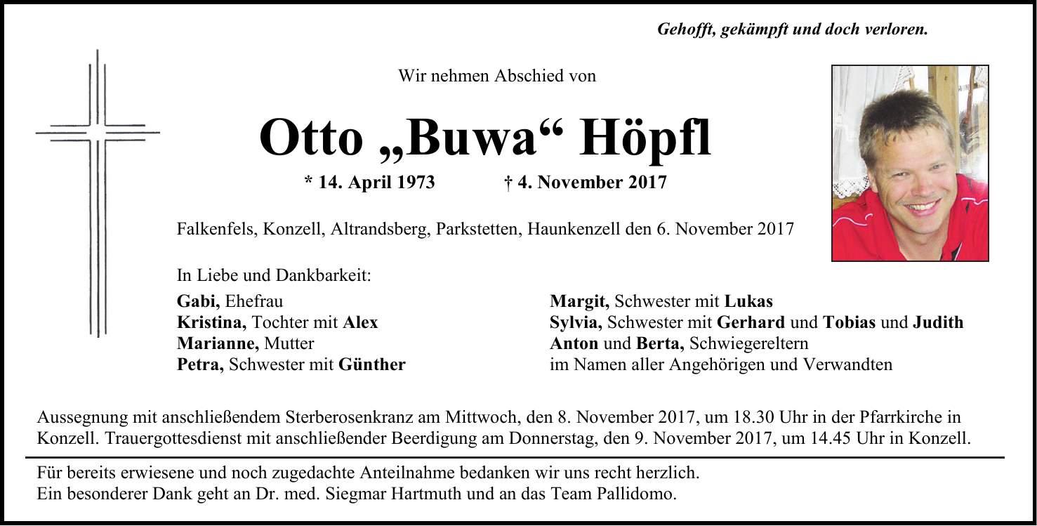 Kötztinger Zeitung Traueranzeigen
