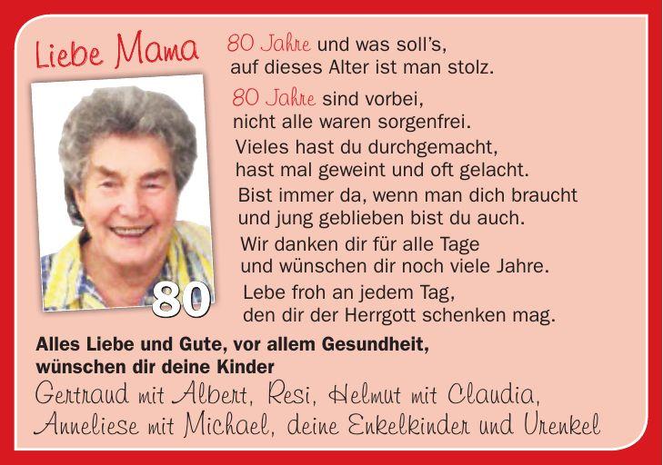 Geburtstagsanzeige Zeitung