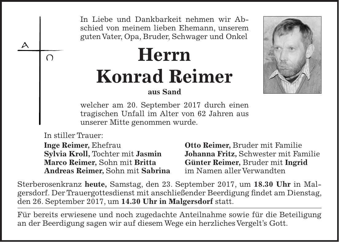 Bayerwald Echo Todesanzeigen Heute