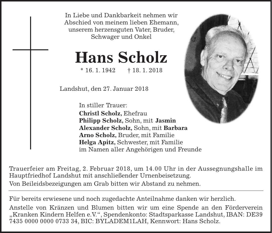 Idowa Landshut Trauer