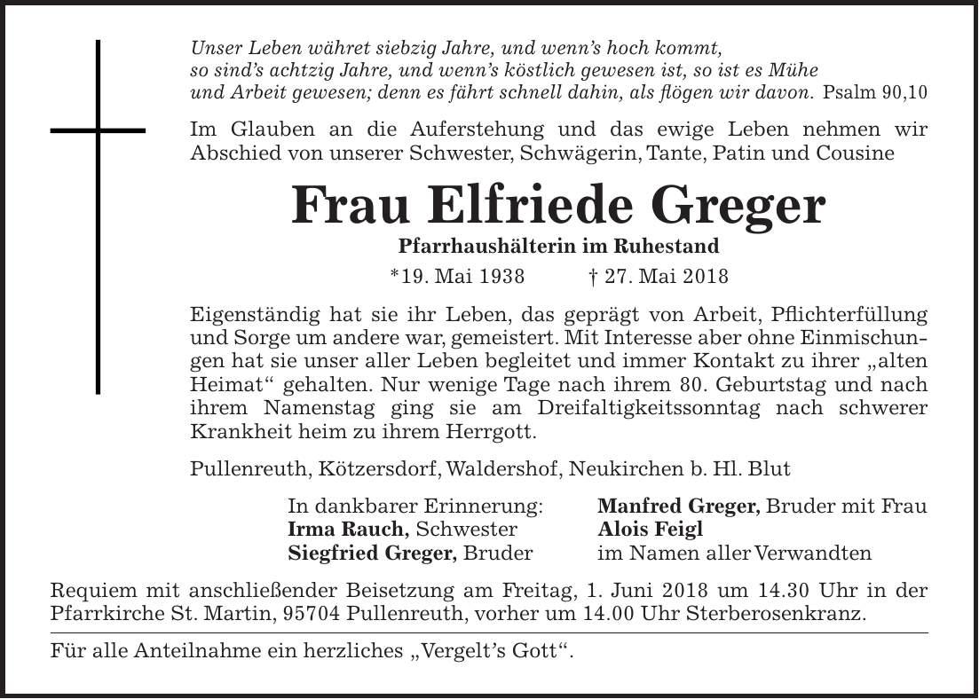 bayreuther tagblatt todesanzeigen