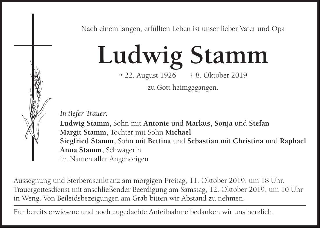 Ludwig Stamm Beruf