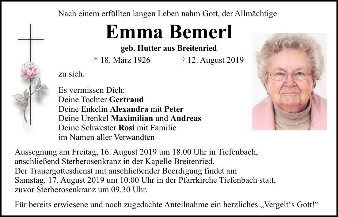 Mittelbayerische Regensburg Todesanzeigen