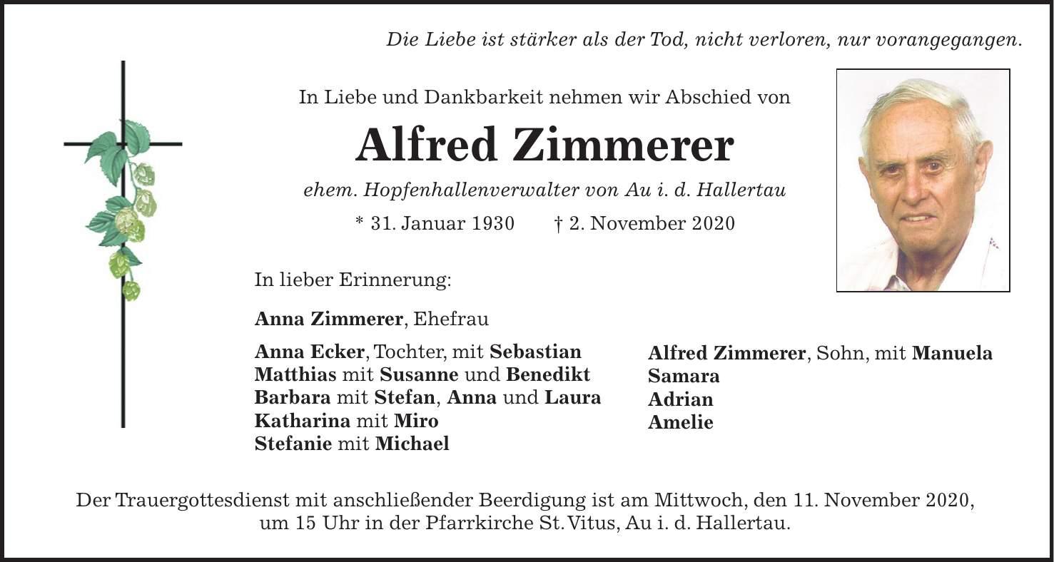 Hallertauer Zeitung Traueranzeigen